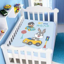 Cobertor-de-Bebe-Looney-Tunes-Baby-On-The-Road---Jolitex