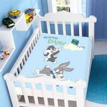 Cobertor-de-Bebe-Looney-Tunes-Baby-Happy-Days---Jolitex