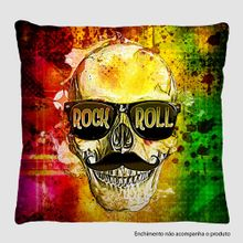Capa-Para-Almofada-40-x40-cm-Caveira-Rock-and-Roll-A138---Viro-Presentes