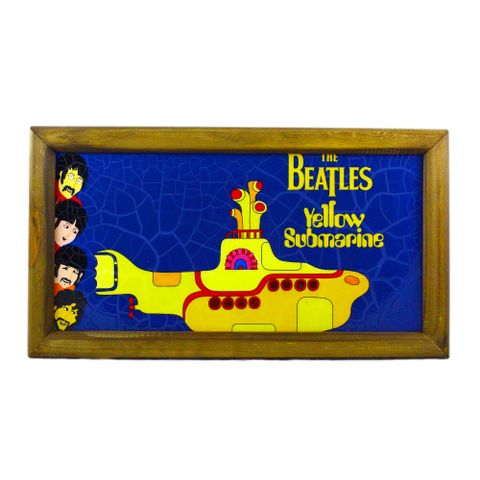 Quadro-The-Beatles-Yellow-Submarine-25x45-cm-Azul