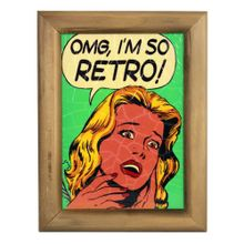 Quadro-OMG-I-am-So-Retro-22x26-cm-Verde
