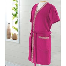 Roupao Adulto Dohler -Liberty Velour M Rosa