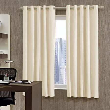Decoracao Home Decor Cortina Bella Janela -Corta Luz Lisa 3.60 X 2.50 Bege