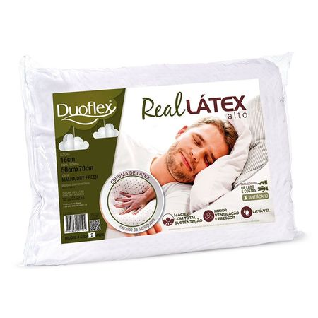 Travesseiro Duoflex -Real Latex Alto