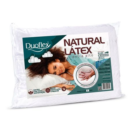 Travesseiro Duoflex -Natural Latex Extra Alto